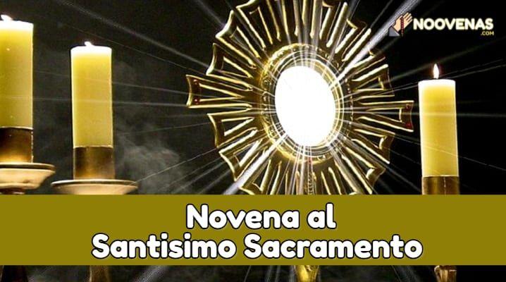 novena al santisimo sacramento